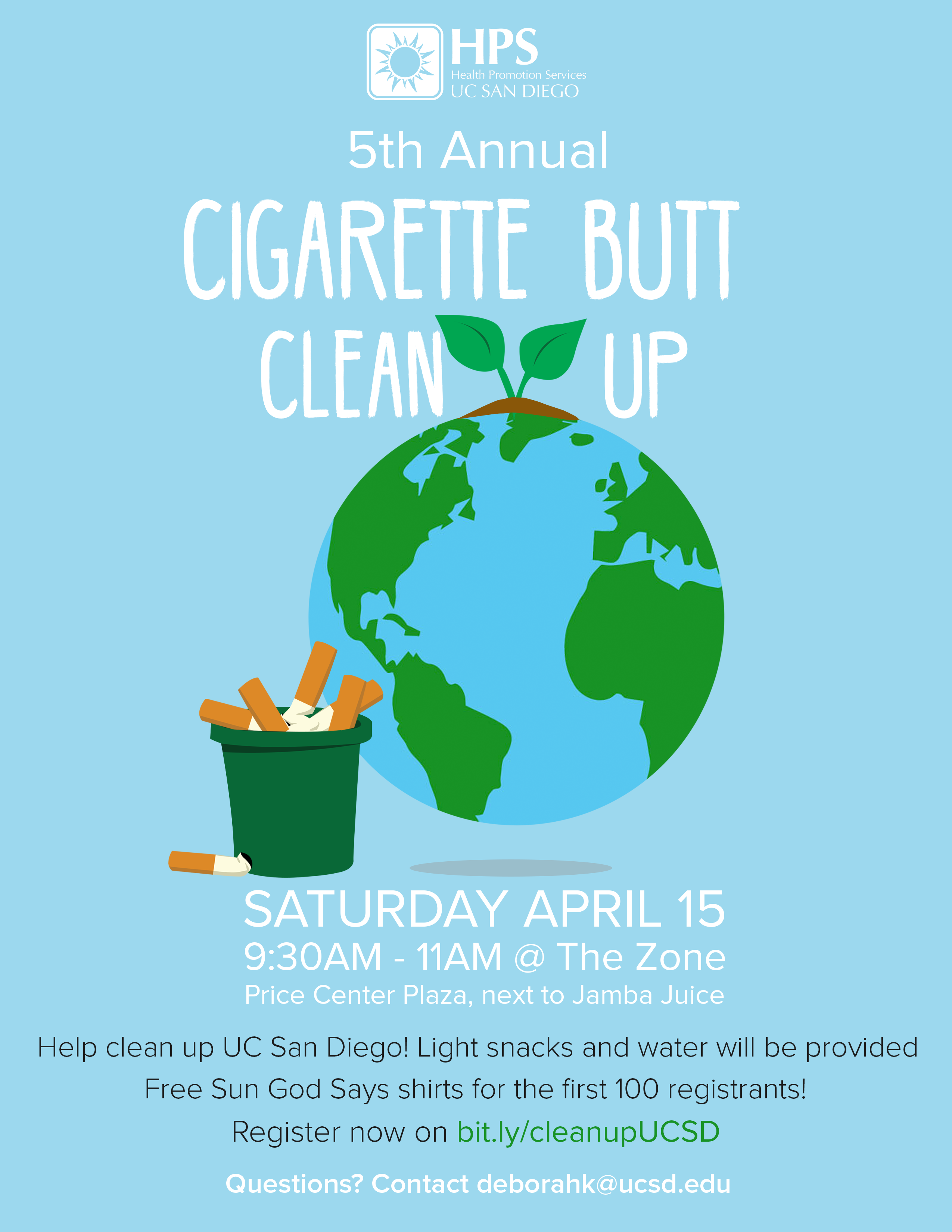 Cigarette Cleanup Poster
